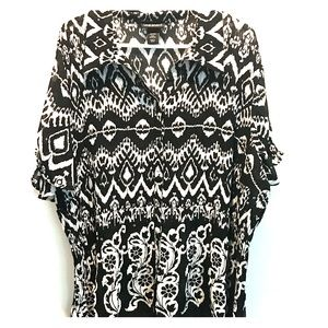 Tops - Lane Bryant graphic short sleeve blouse size 26/28